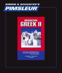 Pimsleur Comprehensive Greek (Modern) Level 2 - Discount - Audio 16 CD